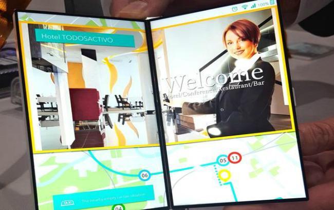 Фото: в Японии разработан складной дисплей для смартфонов