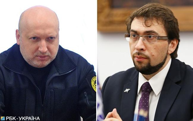 Турчинов обговорив посилення санкцій проти РФ з главоюпредставництва НАТО в Україні