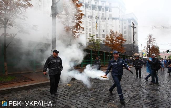 Из-за митингов под Радой и Кабмином в центре Киева усилены меры безопасности