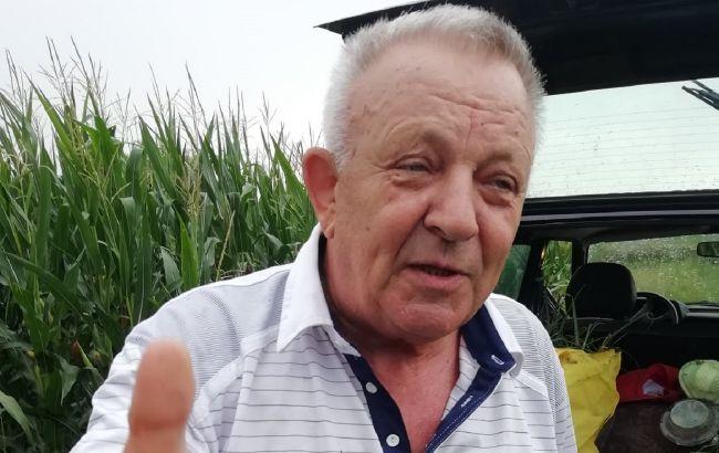 Под Тернополем экс-мэр попался на краже лука и капусты с чужого огорода: появилось видео