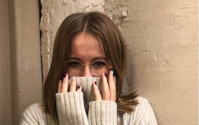 """""""Я сделала это"""": Ксения Собчак нырнула в прорубь при -40 градусах (фото)"""