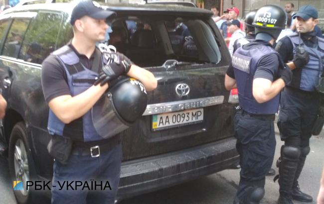 Фото: протест под Радой (РБК-Украина)