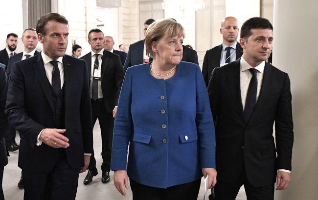 Путин не подключился во время переговоров с Макроном и Меркель, - Зеленский