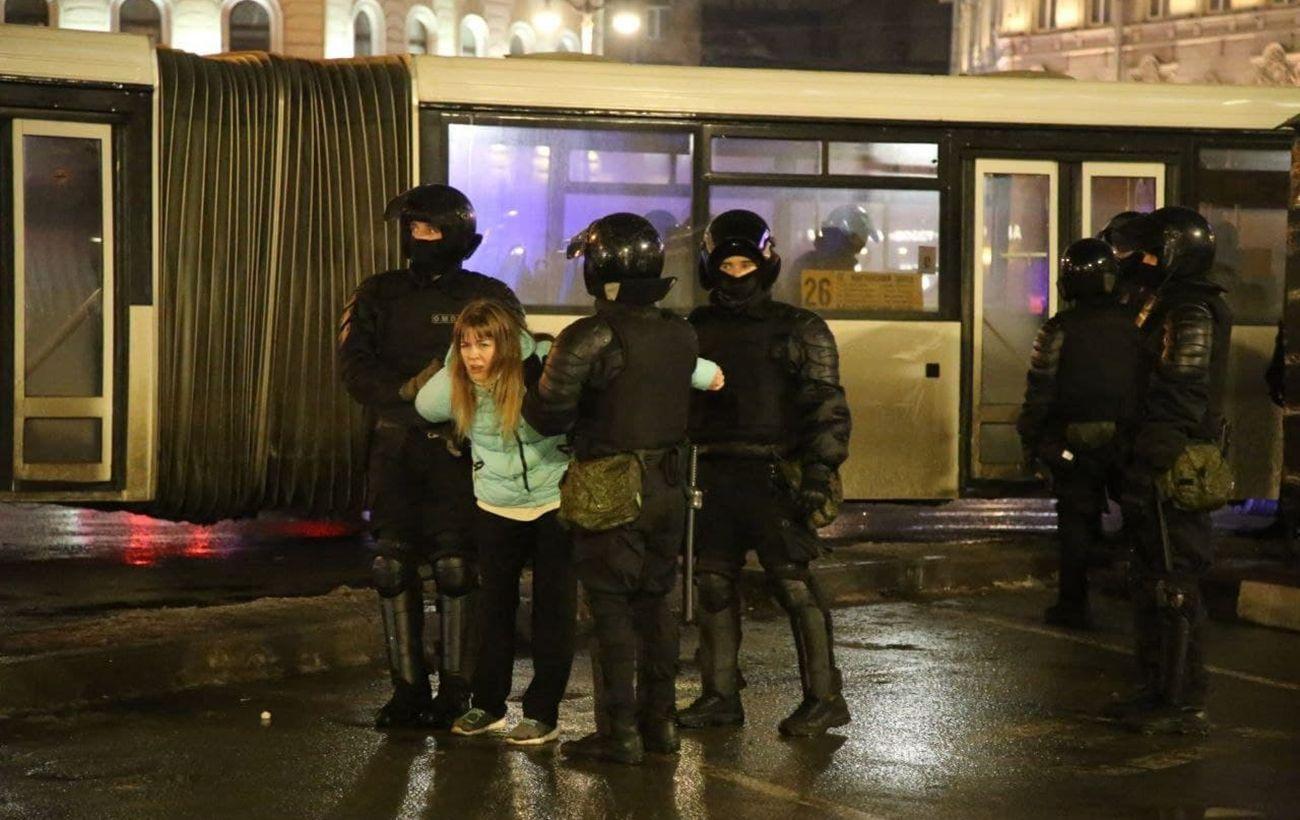 Итоговое количество задержанных на акциях по всей России превысило 3 тысячи человек