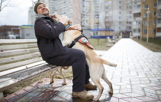 Журналісти розповіли, як собаки-психологи реабілітують українських військових