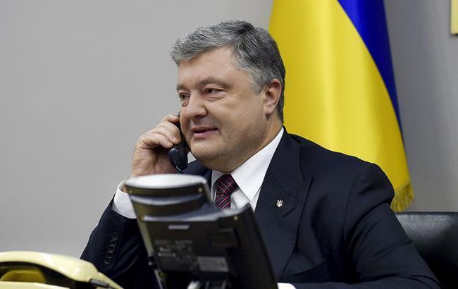 Порошенко провів телефонну розмову з держсекретарем США