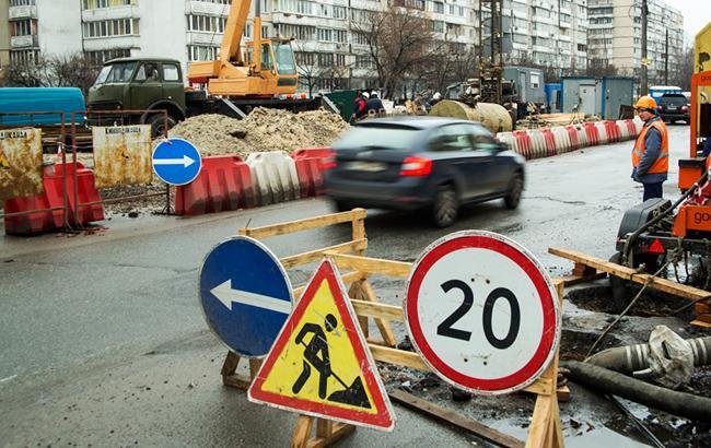 В Киеве ограничат движение переул. Рыльского на перекрестке с ул. Владимирской