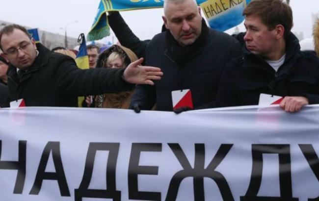 Фото: адвокати Савченко Микола Полозов, Марк Фейгін і Ілля Новіков