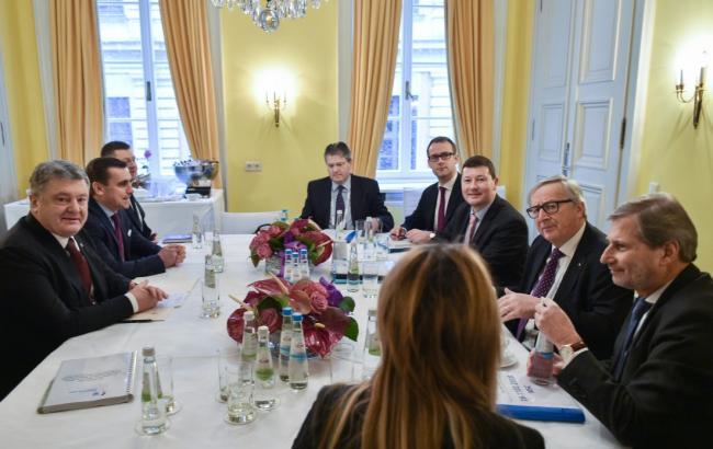 Порошенко обсудил с главой Еврокомиссии макрофинансовую помощь Украине