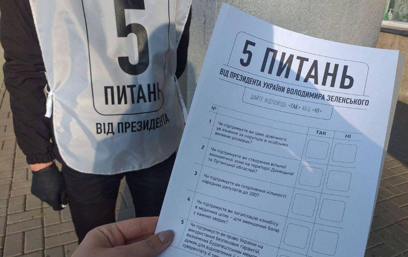 """В Черкассах """"опрос Зеленского"""" проводили члены избиркома прямо на участке, - КИУ"""