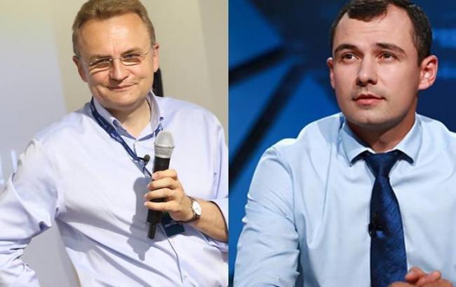 Фото: Андрій Садовий (Самопомич) и Василь Гацько (Демальянс) (dem-alliance.org)