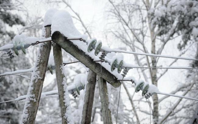 В Україні через негоду залишаються знеструмленими 128 населених пункти у 5 областях