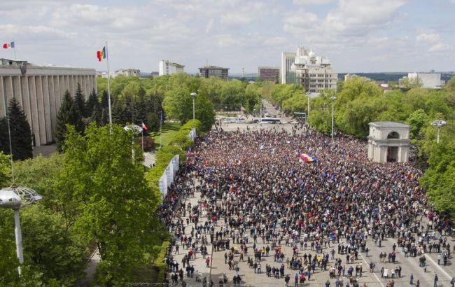 Фото: мітинг у Кишиневі 6 вересня