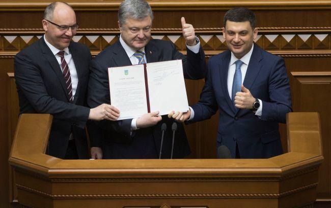 Закон про зміни до Конституції по курсу в ЄС і НАТО набув чинності