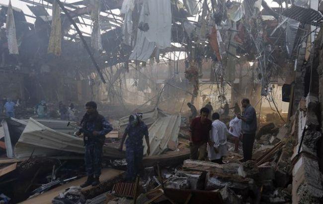 Фото: наслідки авіаударів у Ємені