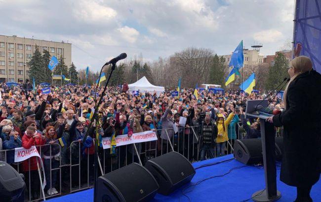 Тимошенко у Слов'янську розповіла, як досягти миру