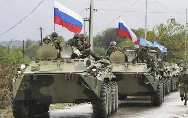 Фото: российские военные на Донбассе