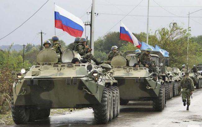 Фото: російські військові на Донбасі