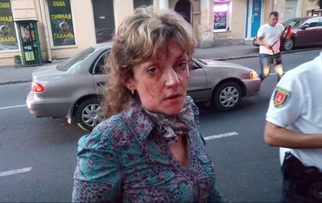 Активистка Алина Радченко (Кадр из видео YouTube/Патриотичекая Одесса)