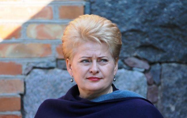 Фото: президент Литвы Дали Грибаускайте