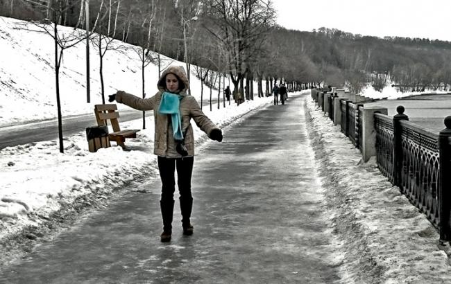 Фото: Гололед на улице (kafanews.com)