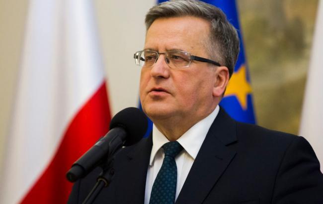 Коморовський: Польща зробить усе, щоб Захід допоміг Україні