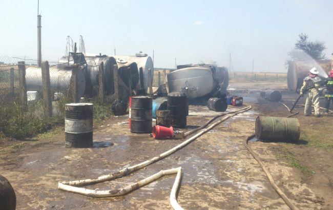 Фото: наслідки пожежі бензовоза