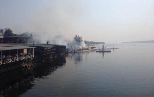 Фото: пожар в Запорожье