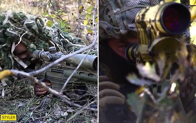 Українські снайпери в роботі: у мережі з'явилося сильне відео