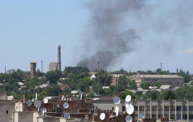 В Жмеринці горить будівля ТЕЦ
