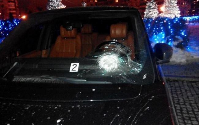 Фото: На автомобиль Сергей Рыбалки было совершено нападение