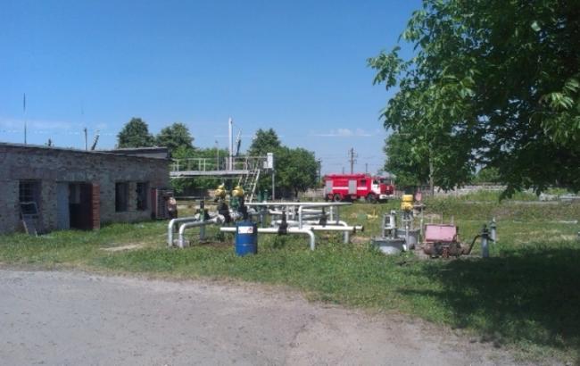 Фото: взрыв на нефтебазе под Ровно