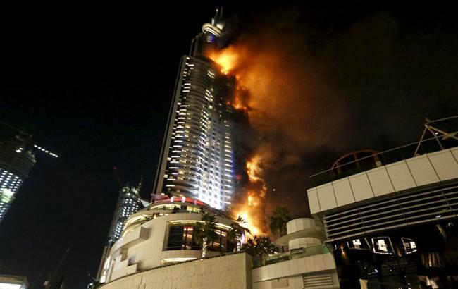 Фото: пожежа в Дубаї