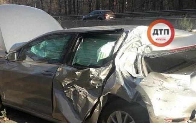 В Киеве нардеп Лещенко попал в аварию
