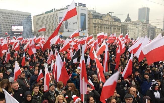 Фото: інцидент стався на Марші незалежності в Варшаві