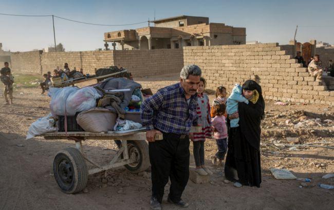 Фото: біженці з Мосула