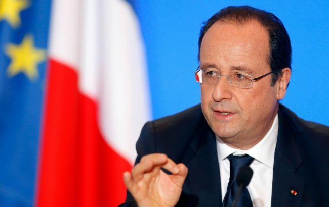 Олланд: спільні дії з РФ в Сирії не вплинуть на позицію Франції щодо Донбасу