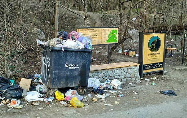Фото: Сімферополь потопає у смітті