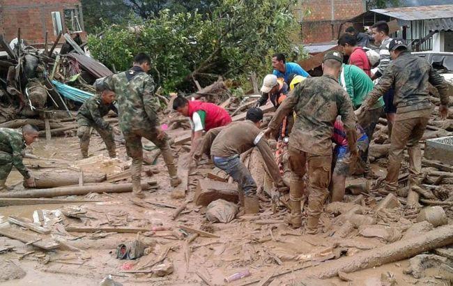Фото: последствия оползня в Колумбии
