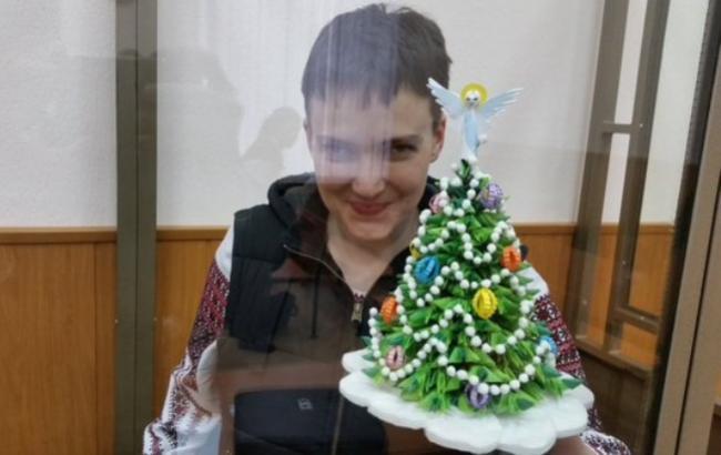 Фото: Надія Савченко в залі суду міста Донецька (Ростовської області), 23 грудня 2015 року