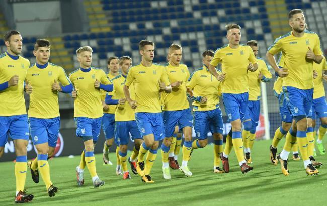 Фото: тренировки сборной Украины (ФФУ)