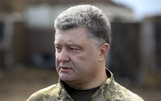 Фото: Петр Порошенко принял участие в торжествах по случаю годовщины освобождения Славянска