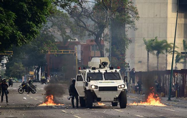 Фото: протест в Венесуэле