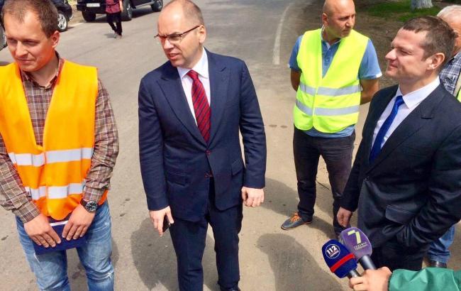 Фото: Максим Степано на інспекції стану автодоріг