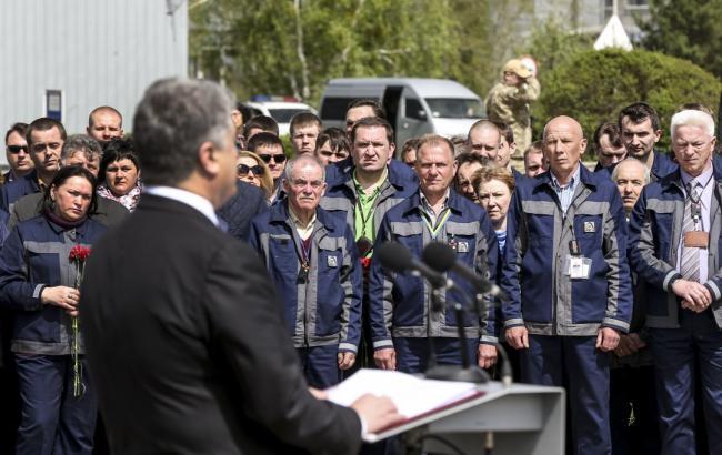 Фото: Петр Порошенко осуществил рабочую поездку на Чернобыльскую АЭС (president.gov.ua)