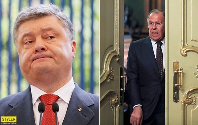 Переплутав приміщення: Порошенко випадково зайшов в переговорну кімнату до Лаврова