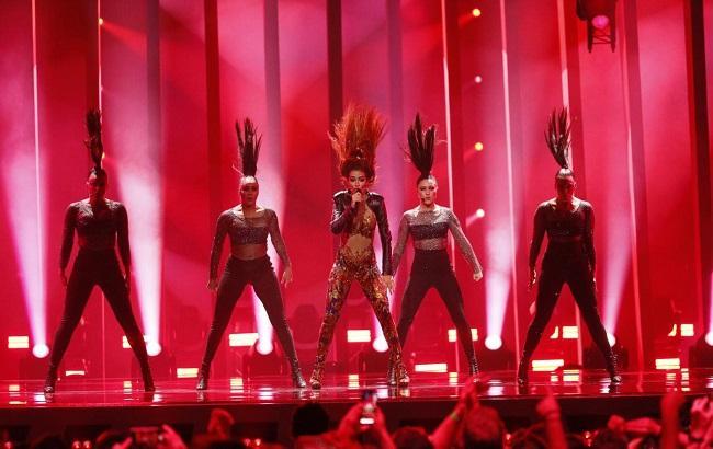 Виступ представниці Кіпру (фото: Andres Putting/eurovision.tv)