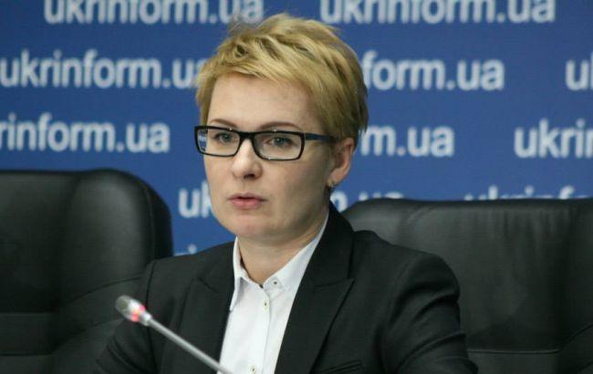 Фото: глава Департамента по вопросам люстрации Минюста Татьяна Козаченко