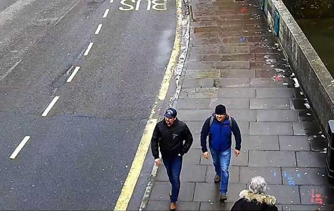Фото: підозрювані в отруєнні Скрипалів (скрін з відео камер спостереження)