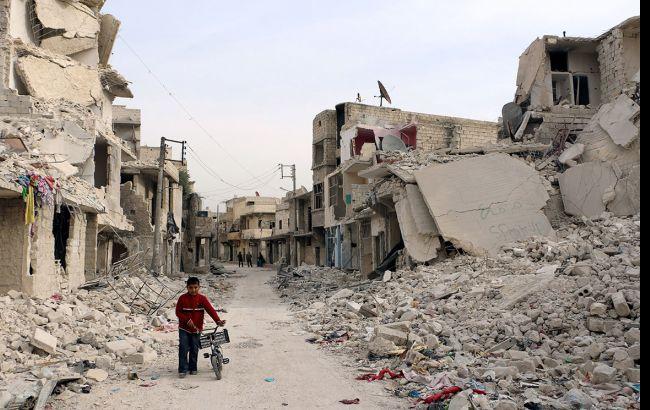 Фото: розбомблене місто Алеппо